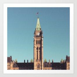 Centre Block Ottawa canada Art Print