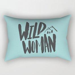 Wild Woman x Blue Rectangular Pillow
