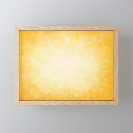 Golden Sunburst Framed Mini Art Print