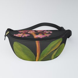 Saxifragia Crassifolia Mary Delany Floral Flower Paper Collage Delicate Vintage Black Background Bot Fanny Pack