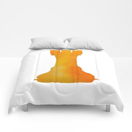 Chess Rook Watercolor Comforters