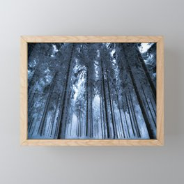 Snowy Winter Trees - Forest Nature Photography Framed Mini Art Print