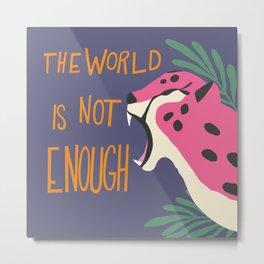 Cheetah - The world is not enough, purple Metal Print
