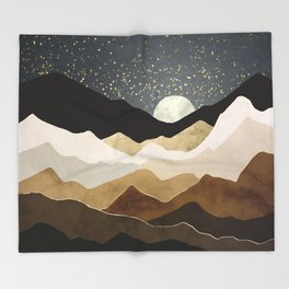 Golden Stars Throw Blanket