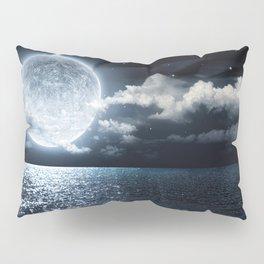 Full Moon over Ocean Pillow Sham