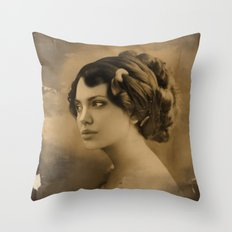Angelina Jolie Vintage ReplaceFace Throw Pillow