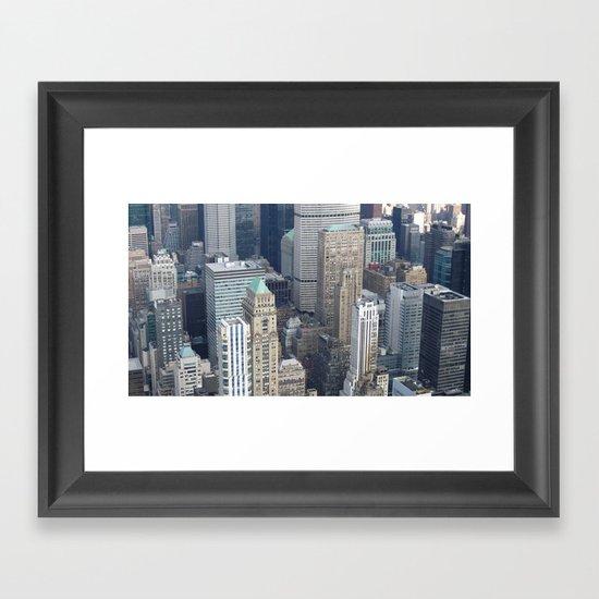Manhattan Morning Framed Art Print