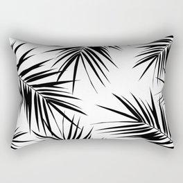 Palm Leaves Cali Finesse #3 #BlackWhite #tropical #decor #art #society6 Rectangular Pillow
