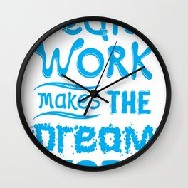 Team Work Makes the Dreamwork Wall Clock