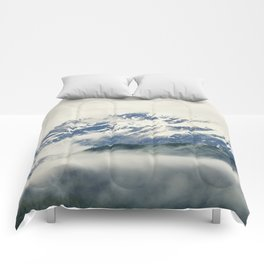 Mountains and Fog Comforters