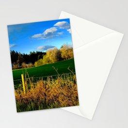 Golden Evening Light Across A Field Stationery Cards