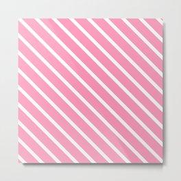 Musk Stick Diagonal Stripes Metal Print