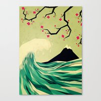 contact Canvas Prints featuring falling in love by Yetiland