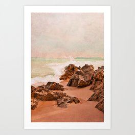 evening waves Art Print