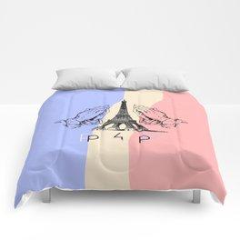 Pray for Paris  Comforters