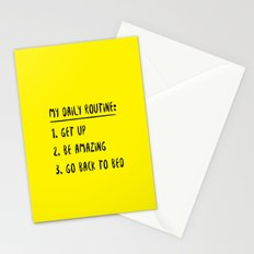 My Daily Routine Stationery Cards