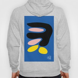Shapes of Love Abstract Art Blue Minimalism Hoody