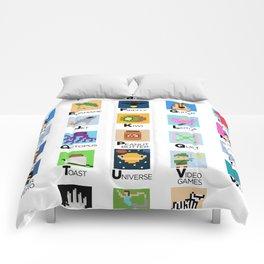 Pixel Art Alphabet Comforters