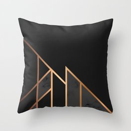 Black & Gold 035 Throw Pillow