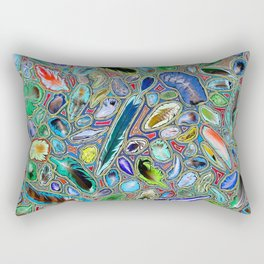 Feathers of birds of the world Rectangular Pillow