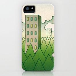that in scare flew away to a forest with high grey trees. iPhone Case