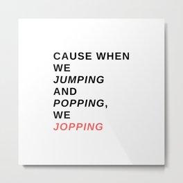 jumping & popping Metal Print