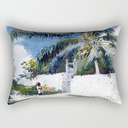 Winslow Homer A Garden in Nassau Rectangular Pillow