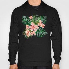 Tropical Jungle Hibiscus Flowers - Floral Hoody