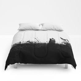 Abstract Watercolor Prints Black White Wall Art Minimalist Brushstrokes Circle Splatter Minimal Boho Comforters