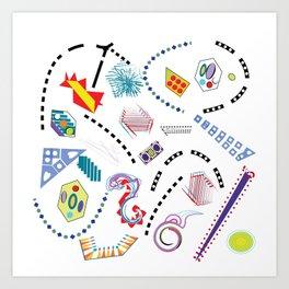 Typography in Design-Toy Pattern Art Print