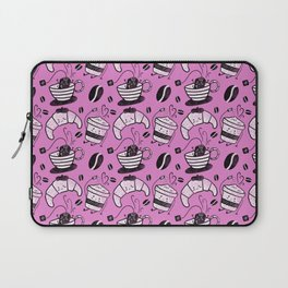 Coffee, tea and croissants for everyone! - Hot pink Laptop Sleeve