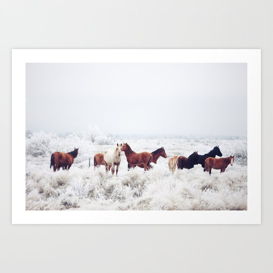 Winter Horseland Art Print