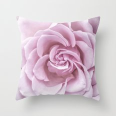 Pink Heart of a rose Roses Flowers Throw Pillow