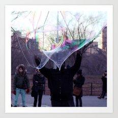 The Bubble Maker Art Print