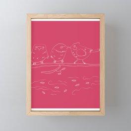 Birds In A Row Framed Mini Art Print