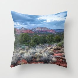 Sedona - Cool Vibes in the Desert Landscape in Northern Arizona Throw Pillow