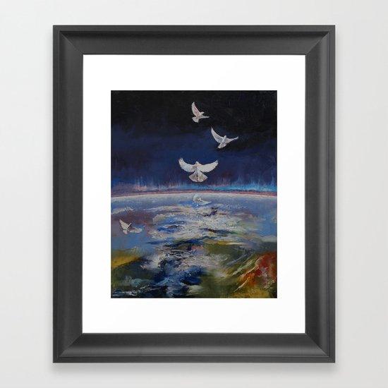 Doves Framed Art Print