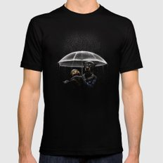 Cat & Dog Mens Fitted Tee LARGE Black