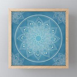 SKY BLUE MANDALA Framed Mini Art Print