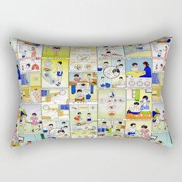 1959 Taiwan Public Health Poster Rectangular Pillow