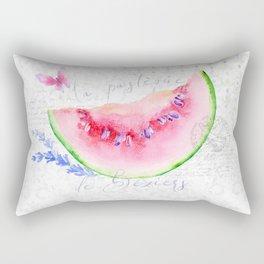 La Pastèque de Béziers—Watermelon and Lavender, Provence Rectangular Pillow