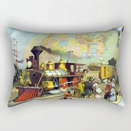 Transcontinental Railroad Rectangular Pillow