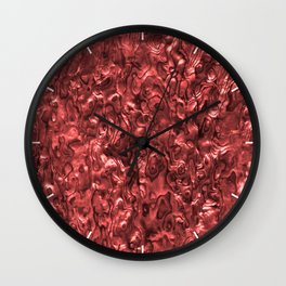 Abalone Shell | Paua Shell | Red Tint Wall Clock