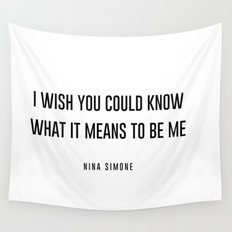 I wish you could know Wall Tapestry