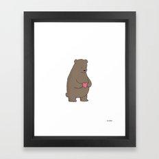 Bear & Heart  Framed Art Print