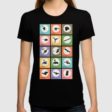 Space Probes Black SMALL Womens Fitted Tee