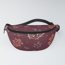 RED MERLOT FLORAL FALL Fanny Pack