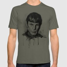 Spock Star Trek Lieutenant Mens Fitted Tee LARGE