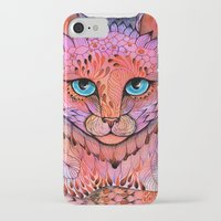 sunset iPhone & iPod Cases featuring SUNSET CAT by Ola Liola