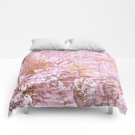 Abstract Autumn In Gold-Rosé Comforters